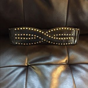 Accessories - NWOT Black belt with gold and silver studs